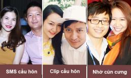 Những kiểu cầu hôn đặc biệt của sao Việt