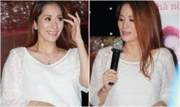 Khánh Thi 'khóc như mưa' khi bất ngờ xuất hiện tại Hà Nội