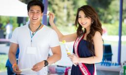 Jennifer Chung được trai đẹp 'tháp tùng' đi từ thiện