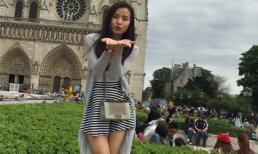 Phương Trinh Jolie khoe dáng nhí nhảnh tại Châu Âu