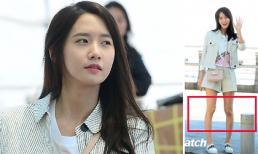 Yoona mặc quần ngắn lộ chân vòng kiềng gầy tong teo