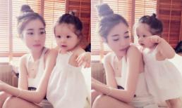 Cadie quấn quýt bên mẹ Elly Trần trong ngày Quốc tế thiếu nhi