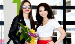 Hoa hậu Jennifer Chung ra sân bay đón Hà Hồ
