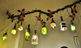 Trang trí nhà với đèn tự làm từ vật liệu tái chế