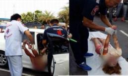 Thi thể phụ nữ chết bất thường trong xe với hiện tượng bong tróc da