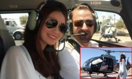 Khánh My đi trực thăng tham quan nước Mỹ
