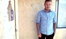 Beckham gõ cửa tặng tiền cho gia đình nghèo