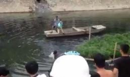 Tên trộm nhảy sông Tô Lịch để trốn nhưng không thoát