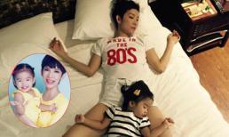 Xuân Lan và con gái khiến fans thích thú với tư thế ngủ 'bá đạo'