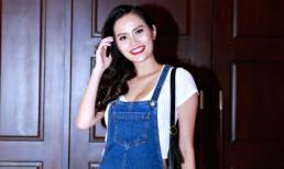 Hoa hậu Diệu Linh ăn mặc giản dị đi trình diễn thời trang