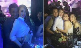 Quỳnh Thư ăn diện kín đáo đi bar với người tình