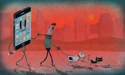 Tranh biếm họa đả kích mảng tối về thực trạng xã hội