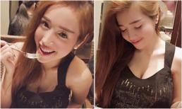 Elly Trần khoe ngực 'căng tràn' khi đi ăn kem một mình