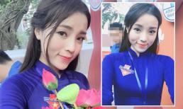 Hoa hậu Kỳ Duyên cực xinh khi diện áo dài Đoàn viên