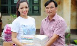 Thúy Hằng lặn lội lên tận Lào Cai làm từ thiện