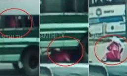 Cô gái thoát chết khi bị rơi từ gầm xe buýt đang đi