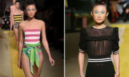 Kha Mỹ Vân 'hở bạo' trên sàn diễn thời trang tại Milan