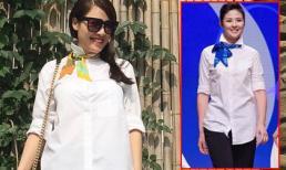 Quế Vân diện trang phục 'nhái' thiết kế của Hoa hậu Ngọc Hân
