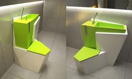 Bồn cầu 2 trong 1 – giải pháp tiết kiệm cho phòng tắm nhỏ xinh