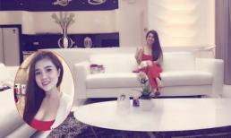Chị Ngọc Trinh diện trang phục gợi cảm đến thăm nhà triệu đô của em gái