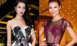 Hồng Quế - Thùy Dung đối lập phong cách với váy của NTK Hoàng Hải