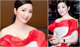 Hoa hậu Giáng My 'hồi xuân' với 2 sắc màu trắng - đỏ