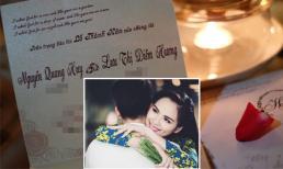 Hé lộ thiệp mời 'đám cưới cổ tích' của Hoa hậu Diễm Hương