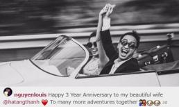 Chồng Tăng Thanh Hà ngọt ngào với vợ kỷ niệm 3 năm ngày cưới