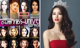 Phạm Hương lại 'oanh tạc' các bảng xếp hạng Miss Universe 2015