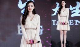 Angela Baby diện váy ngắn khoe chân dài tại sự kiện