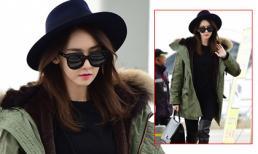 Yoona nổi bật tại sân bay dù mặc áo khoác to sụ