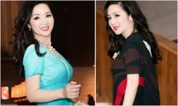 Hoa hậu Đền Hùng Giáng My diện 2 váy hiệu đi hát và làm MC