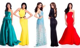 Váy dạ hội lộng lẫy của các người đẹp tại Hoa hậu Hoàn vũ 2015