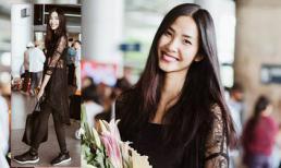 Hoàng Thùy diện đồ cực chất ở sân bay khi trở về Việt Nam