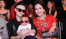 Con trai Đỗ Mạnh Cường nổi bật trên hàng ghế đầu show thời trang