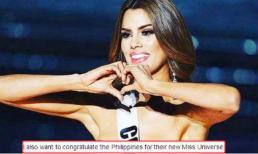 Hoa hậu Colombia chúc mừng Philippines đạt danh hiệu Hoa hậu Hoàn vũ