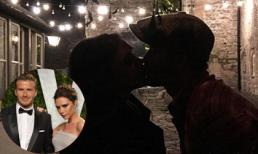 'Tan chảy' trước nụ hôn lãng mạn của Victoria và David Beckham trong đêm Noel