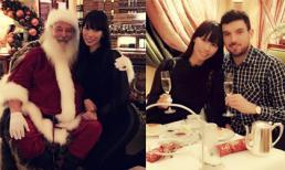 Siêu mẫu Hà Anh thích thú khi được gặp ông già Noel