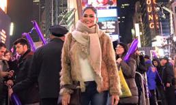 Hoa hậu Hoàn vũ 2015 lần đầu đón năm mới tại New York
