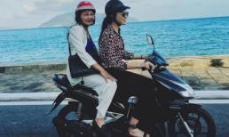 Kỳ Duyên 'gây sốt' với hình ảnh chở mẹ đi chơi bằng xe máy