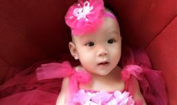 Con gái Trịnh Kim Chi diện váy hồng xinh như công chúa