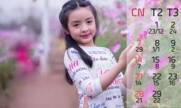 Con gái Thúy Hằng duyên dáng trong bộ ảnh lịch