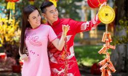 Người mẫu Kim Ngân & Hoàng Mỹ sánh đôi cầu duyên trong trang phục áo dài