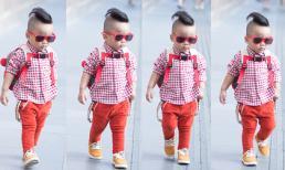 Con trai Đỗ Mạnh Cường - sao nhí thời trang nhất showbiz