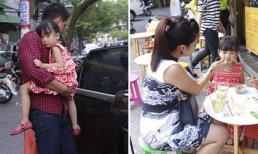 Bình Minh lái xe tiền tỷ đưa vợ con đi ăn kem vỉa hè