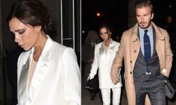 Victoria thể hiện mặt 'lạnh tanh' khi chồng nắm tay trên phố