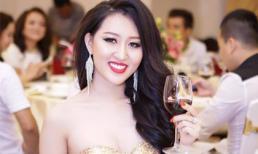 Hoa hậu Huỳnh Thúy Anh đẹp quyến rũ trong dạ tiệc đầu xuân 2016