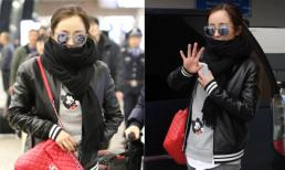 Dương Mịch trẻ trung khi xuất hiện ở sân bay