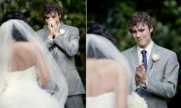 Khoảnh khắc ngôn tình khi lần đầu nhìn thấy cô dâu của mình