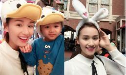 Mẹ con Lã Thanh Huyền thích thú dạo chơi ở Tokyo